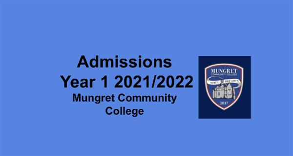 Admissions & Applications Year 1 2021/2022