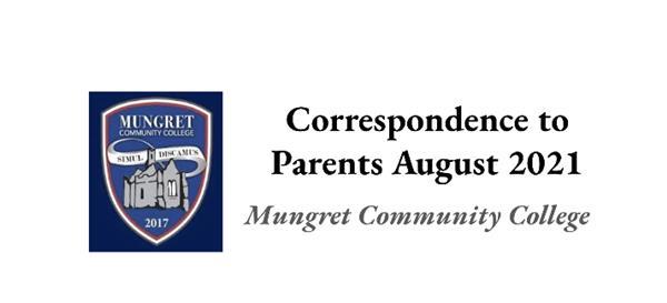 Communication to Parents August 2021